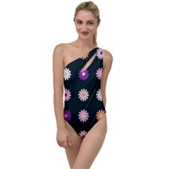 Flower Background Wallpaper Modern To One Side Swimsuit