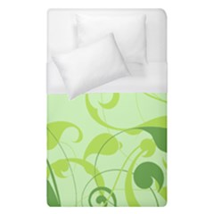 Floral Decoration Flowers Green Duvet Cover (single Size) by Jojostore