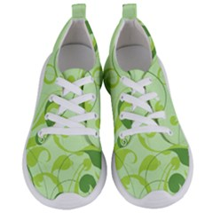 Floral Decoration Flowers Green Women s Lightweight Sports Shoes