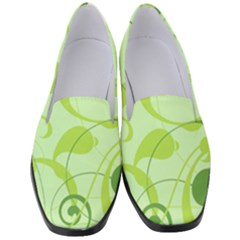 Floral Decoration Flowers Green Women s Classic Loafer Heels
