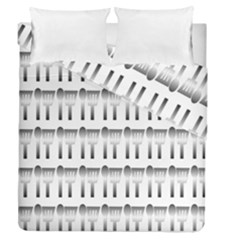 Kitchen Background Spatula Duvet Cover Double Side (queen Size) by Mariart
