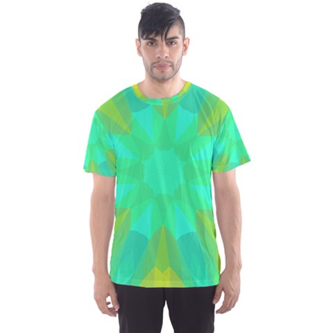 Kaleidoscope Background Men s Sports Mesh Tee by Mariart