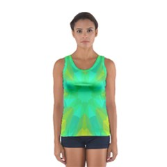 Kaleidoscope Background Sport Tank Top  by Mariart