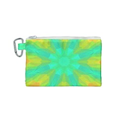 Kaleidoscope Background Canvas Cosmetic Bag (small)