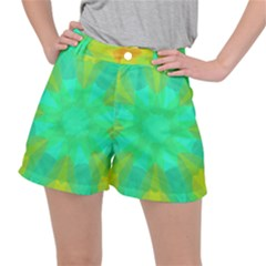 Kaleidoscope Background Stretch Ripstop Shorts