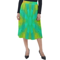 Kaleidoscope Background Classic Velour Midi Skirt