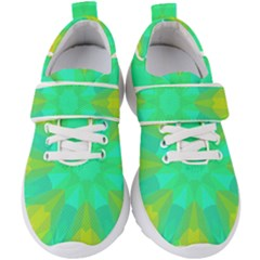 Kaleidoscope Background Kids  Velcro Strap Shoes