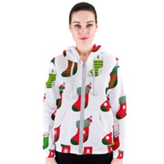 Christmas Stocking Candle Women s Zipper Hoodie