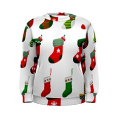 Christmas Stocking Candle Women s Sweatshirt by Mariart