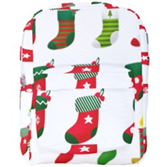 Christmas Stocking Candle Full Print Backpack by Mariart