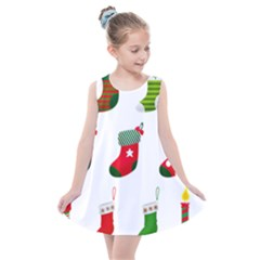 Christmas Stocking Candle Kids  Summer Dress by Mariart