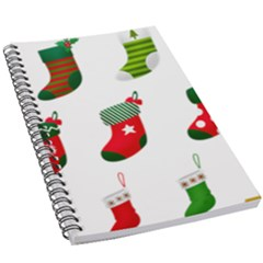 Christmas Stocking Candle 5 5  X 8 5  Notebook by Mariart