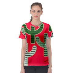 Cactus Western Background Women s Sport Mesh Tee by AnjaniArt