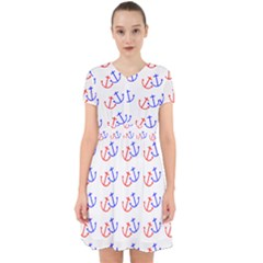 Anchors Nautical Backdrop Sea Adorable In Chiffon Dress