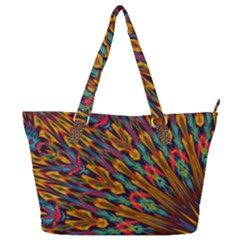 Background Abstract Texture Full Print Shoulder Bag