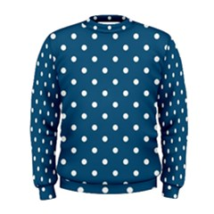 Polka Dot   Turquoise  Men s Sweatshirt