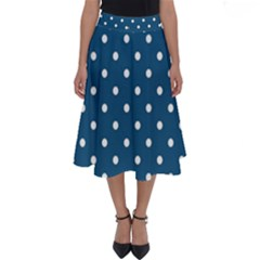 Polka Dot - Turquoise  Perfect Length Midi Skirt by WensdaiAmbrose