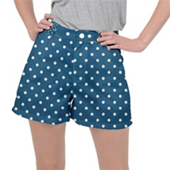 Polka Dot - Turquoise  Stretch Ripstop Shorts by WensdaiAmbrose