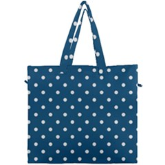 Polka Dot   Turquoise  Canvas Travel Bag by WensdaiAddamns