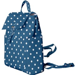 Polka Dot - Turquoise  Buckle Everyday Backpack by WensdaiAmbrose