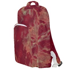 Marble Red Yellow Background Double Compartment Backpack