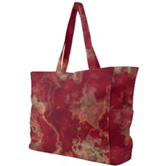 Marble Red Yellow Background Simple Shoulder Bag
