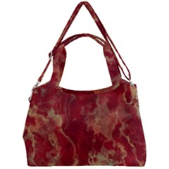 Marble Red Yellow Background Double Compartment Shoulder Bag