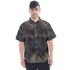 Marble Surface Texture Stone Men s Short Sleeve Shirt