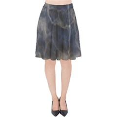 Marble Surface Texture Stone Velvet High Waist Skirt