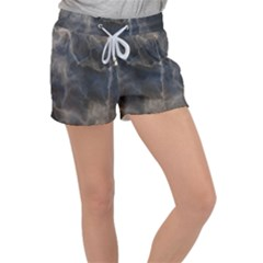 Marble Surface Texture Stone Women s Velour Lounge Shorts