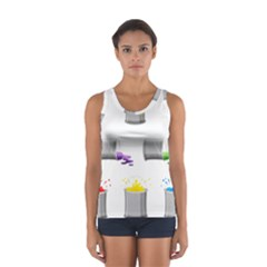Paint Cans Sport Tank Top  by Jojostore