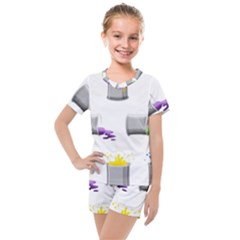 Paint Cans Kids  Mesh Tee And Shorts Set