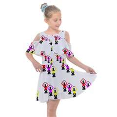Ballet Plie Dance Ballerina Kids  Shoulder Cutout Chiffon Dress