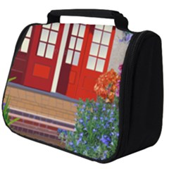 Garden Flowers Nature Red Pink Full Print Travel Pouch (big)