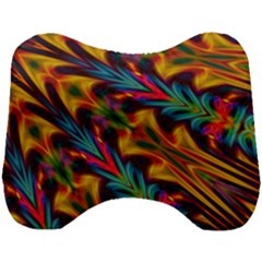 Background Abstract Texture Rainbow Light Head Support Cushion