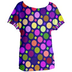 Circle District Colorful Structure Women s Oversized Tee by Jojostore