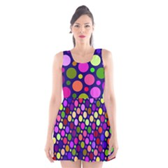 Circle District Colorful Structure Scoop Neck Skater Dress