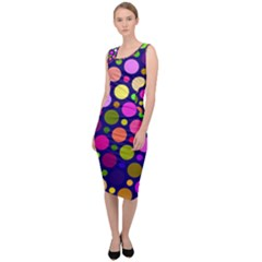 Circle District Colorful Structure Sleeveless Pencil Dress