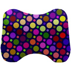 Circle District Colorful Structure Head Support Cushion