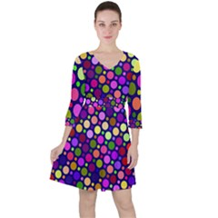 Circle District Colorful Structure Ruffle Dress by Jojostore