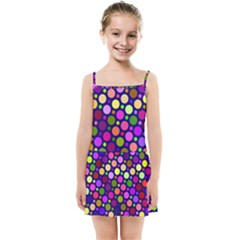 Circle District Colorful Structure Kids  Summer Sun Dress by Jojostore
