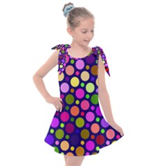 Circle District Colorful Structure Kids  Tie Up Tunic Dress by Jojostore