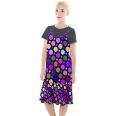 Circle District Colorful Structure Camis Fishtail Dress