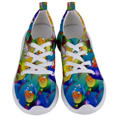 Abstract Fish Background Backdrop Women s Lightweight Sports Shoes