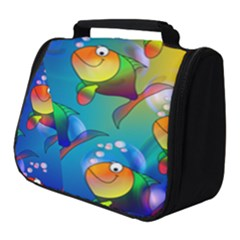 Abstract Fish Background Backdrop Full Print Travel Pouch (small) by Jojostore
