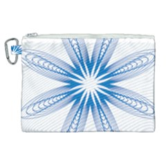 Spirograph Blue Circle Geometric Canvas Cosmetic Bag (xl)
