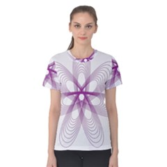 Spirograph Purple Circle Geometric Women s Cotton Tee
