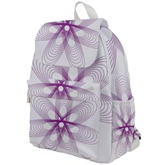 Spirograph Purple Circle Geometric Top Flap Backpack