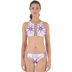 Spirograph Purple Circle Geometric Perfectly Cut Out Bikini Set
