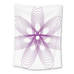 Spirograph Purple Circle Geometric Medium Tapestry